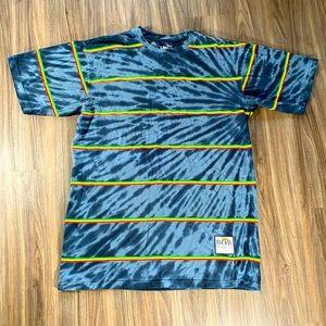 BillaBong X Bob Marley T Shirt Size XL Grey Tie Dy